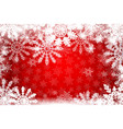 red winter snowy background vector image vector image
