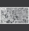 santiago chile city map in retro style outline map vector image