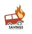 savings car vector image