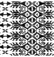 seamless ikat pattern black and white vector image