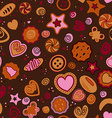 Seamless pattern with sweet pastries vector image