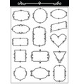 set decorative vintage frames vector image vector image