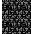 set hand drawn skulls vector image