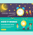set of horizontal banners good night and sweet vector image vector image