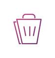 shopping bag network social media icon line vector image