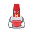 silent nail polish mascot cartoon vector image