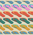 slippers seamless pattern summer shoes ornament vector image