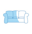 sofa furniture comfort interior decor vector image vector image