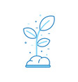 spring sprout icon vector image