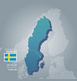 sweden information map vector image vector image