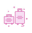 travel bag icon design vector image