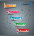 usb flash stair ladder - business infographic vector image