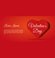 valentines day card background with big 3d hearts vector image