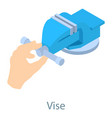 vise tool icon isometric 3d style vector image vector image