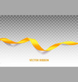 yellow ribbon vector image vector image