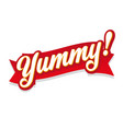 yummy sign speech bubble red vector image