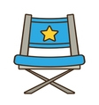 blue chair star director film vector image