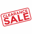 Clearance sale grunge rubber stamp on white vector image