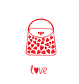 Love bag with hearts vector image