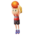 A young male basketball player vector image vector image