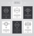 Abstract Card Designs Set vector image vector image