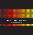 abstract pattern set gold and flame seamless vector image vector image
