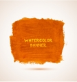 Abstract square orange watercolor hand-drawn vector image vector image