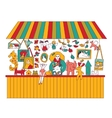 Art hand made fair toys seller isolate on white vector image vector image
