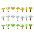 autumn winter spring trees vector image vector image