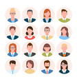 avatars head set anonymous user characters vector image