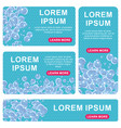 bathroom banners background blue vector image vector image