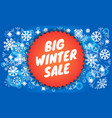 big winter sale banner isometric style vector image