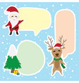 border graphic cartoon about christmas vector image