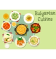 Bulgarian cuisine icon for food theme design vector image vector image