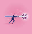 business target - business concept vector image vector image