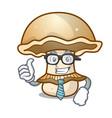 businessman portobello mushroom character cartoon vector image vector image