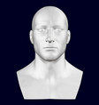 bust a man front view 3d vector image vector image