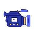 camera blue color icon camcorder videotaping vector image
