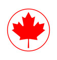 canada flag icon isolate print vector image