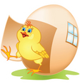cartoon chicken and egg vector image