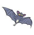 cartoon image of halloween bat vector image vector image