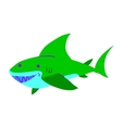 Cartoon shark flat mascot icon vector image vector image
