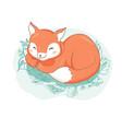 cute fox cartoon style tribal animals portrait vector image