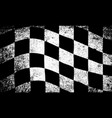 dirty chequered flag vector image vector image