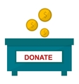 donate icon vector image vector image