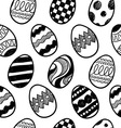 doodle easter eggs pattern vector image vector image