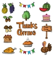 Element thanksgiving stock on doodles vector image vector image