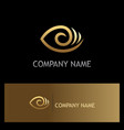 eye optic lens gold logo vector image