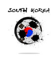 flag of south korea as an abstract soccer ball vector image