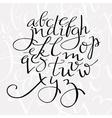 flourish script alphabet vector image vector image